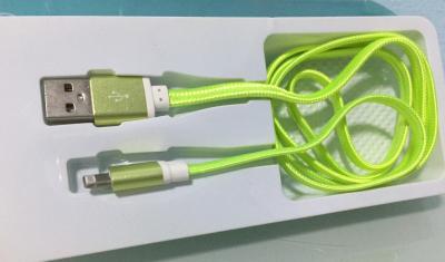 สายชาร์ทโทรศัพท์ - fast data cable สีเขียว - กล่องฟ้า - B3116