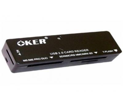 Ext Card Reader All in 1 OKER (C-09) คละสี - B2887