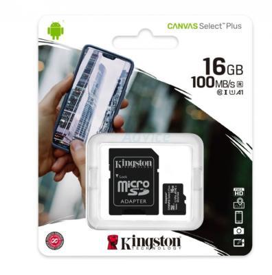 Micro SD 16GB Kingston SDCS2 (100MB/s.) - B3152