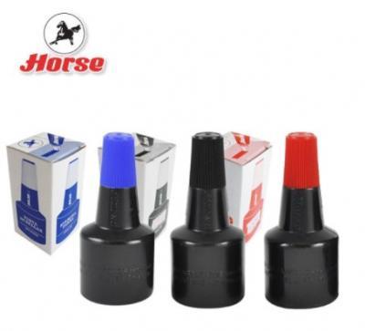 HORSE ตราม้า หมึกเติมแท่นประทับ 28 ซีซี - สีน้ำเงิน (แพ็คX12ขวด) - B2930