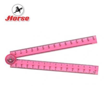 HORSE ตราม้า ไม้บรรทัดพับได้H-1719 1x1 อัน คละสี - B3167