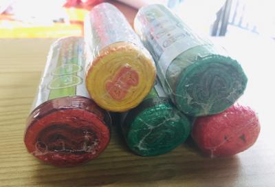 ถุงขยะพร้อมสายรัดปาก คละสี 20*22